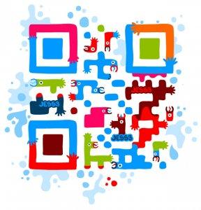 Красивый QR-код для выдачи карты на телефон